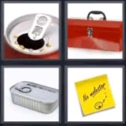 4 fotos 1 palabra lata sardinas