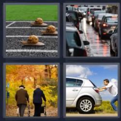4 fotos 1 palabra carrera de caracoles