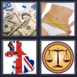 4 fotos 1 palabra balanza