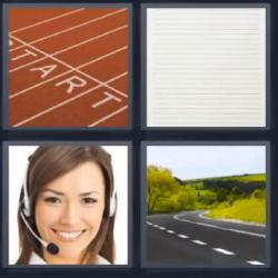 4 fotos 1 palabra carretera teleoperadora