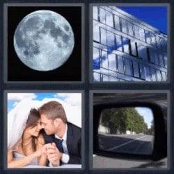 4 fotos 1 palabra luna edificio novios