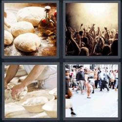 4 fotos 1 palabra masa gente
