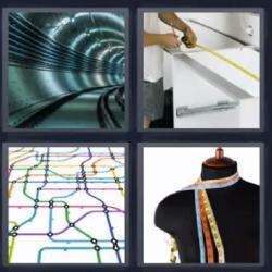 4 fotos 1 palabra túnel mapa
