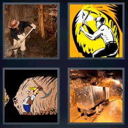 4 fotos 1 palabra minero