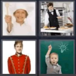 4 fotos 1 palabra chef niño