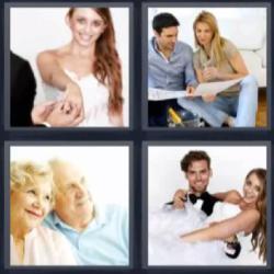 4 fotos 1 palabra pareja ancianos