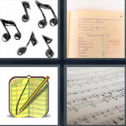 4 fotos 1 palabra notas musicales