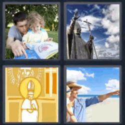 4 fotos 1 palabra padre hija