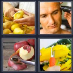 4 fotos 1 palabra manzana pelada