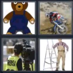 4 fotos 1 palabra oso de peluche