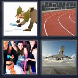 4 fotos 1 palabra detective avión