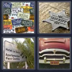 4 fotos 1 palabra sheriff