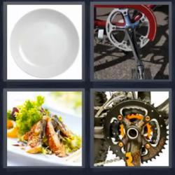 4 fotos 1 palabra pedal bicicleta
