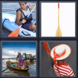 4 fotos 1 palabra kayak barca