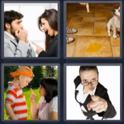 4 fotos 1 palabra perro pis