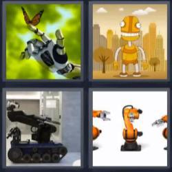 4 fotos 1 palabra robot mariposa