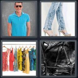4 fotos 1 palabra perchas pantalón