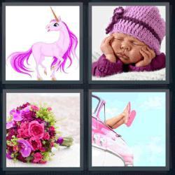 4 fotos 1 palabra unicornio