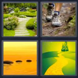 4 fotos 1 palabra camino pies