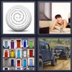 4 fotos 1 palabra puertas bola