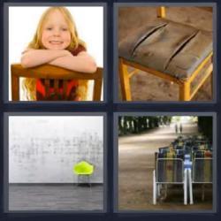 4 fotos 1 palabra silla rota