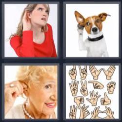 4 fotos 1 palabra manos oreja