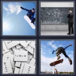 4 fotos 1 palabra tabla pizarra