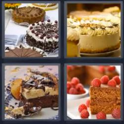 4 fotos 1 palabra tartas pasteles