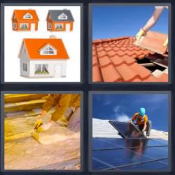 4 fotos 1 palabra tejado casas