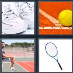 4 fotos 1 palabra raqueta pelota