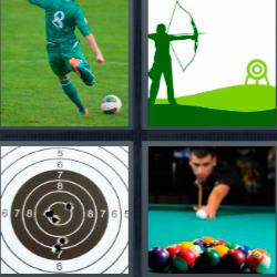 4 fotos 1 palabra mesa de billar