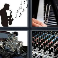4 fotos 1 palabra saxofonista motor