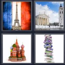 4 fotos 1 palabra columna de libros