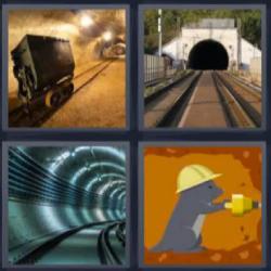 4 fotos 1 palabra túnel topo