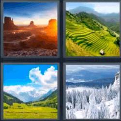 4 fotos 1 palabra paisajes