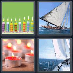 4 fotos 1 palabra velas cumpleaños