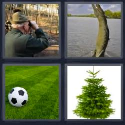 4 fotos 1 palabra cocodrilo balón