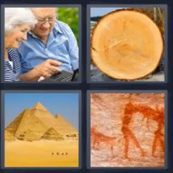 4 fotos 1 palabra ancianos pirámides