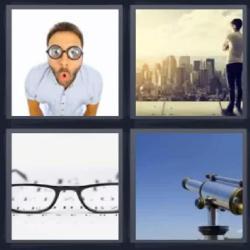 4 fotos 1 palabra telescopio ciudad