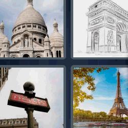 4 fotos 1 palabra Torre Eiffel Arco
