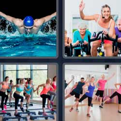4 fotos 1 palabra nadador gimnasia
