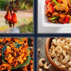 4 fotos 1 palabra frutos secos comida