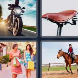 4 fotos 1 palabra moto caballo