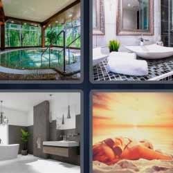 4 fotos 1 palabra jacuzzi baño