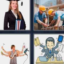 4 fotos 1 palabra universitaria obreros