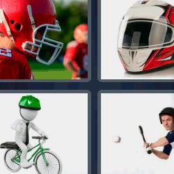 4 fotos 1 palabra casco verde