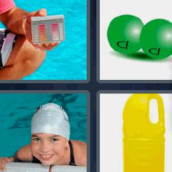 4 fotos 1 palabra lejía piscina