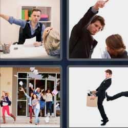 4 fotos 1 palabra hombre señalando enfadado
