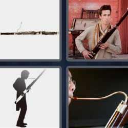 4 fotos 1 palabra instrumento de viento muy largo