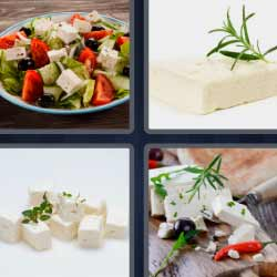 4 fotos 1 palabra queso blanco